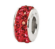 Prerogatives Sterling Red Double Row SwarovskiCrystal Bead - J299583