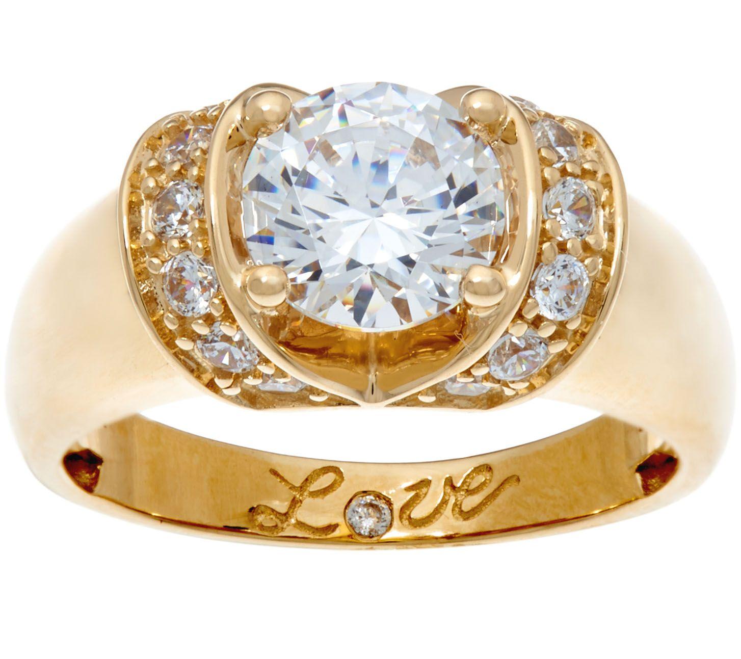 Diamonique Eternity Ring Gold