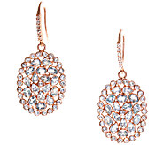 Graziela Gems Blue Topaz Dangle Earrings, Sterling/18K Rose - J337083