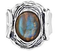 Hagit Sterling Silver Labradorite Cabochon Ring - J340683