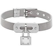 Stainless Steel Mesh Lock Charm Bracelet - J344483