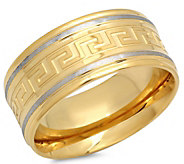 Forza Mens Stainless Greek Key Band Ring - J344983