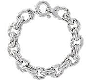 Italian SilveSterling Twisted Link Bracelet, 22.8g - J345083