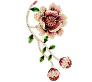 Joan Rivers Limited Edition Blossoming Flower Brooch - J345983