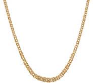 14K Gold 20 Graduated Byzantine Necklace, 6.7g - J354083