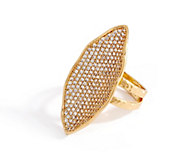 Melinda Maria Simulated Pave Gemstone Feather Ring - Kidman - J355683