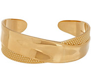 Bronzo Italia Polished and Textured X-Design Cuff Bracelet - J357883
