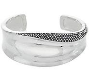 Michael Dawkins Sterling Silver Granulation Drop & High Polished Cuff - J358483