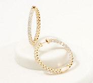 Affinity 14K Gold Inside Out Diamond Hoop Earrings, 5.00cttw - J361683