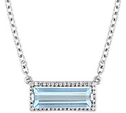 Sterling Silver 3.00 cttw Blue Topaz & White Sapphire Necklace - J385283