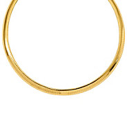 14K Gold 8.0mm Domed Omega Necklace, 36.7g - J385483