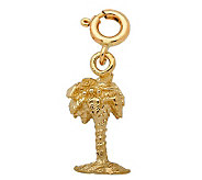 14K Yellow Gold 3-D Palm Tree Charm - J107984