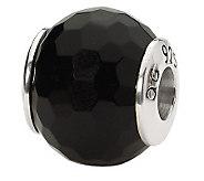 Prerogatives Sterling Black Agate Gemstone Bead - J298184