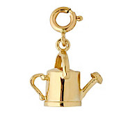 14K Yellow Gold Watering Can Charm - J298484