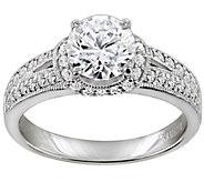 Diamonique 2.40 cttw Ring, Platinum Clad - J309784