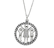Sentimental Expressions Sterling 18 Knitted Together Necklac - J310584