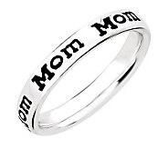 Simply Stacks Sterling Enamel Mom Band Ring - J311284
