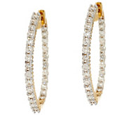 Round Diamond Inside Out Hoop Earrings, 14K, 1.00 cttw, by Affinity - J333684