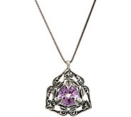 Or Paz Sterling Silver 7.50 Ct. Trillion Pendant w/Chain - J348984