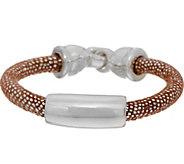 Simon Sebbag Sterling Silver & Textured Suede Bracelet - J351084