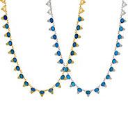 Judith Ripka Sterling or 14K Clad Doublet & Blue Topaz Necklace - J352884