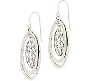 Or Paz Sterling Silver Filigree & Hammered Dangle Earrings - J354984