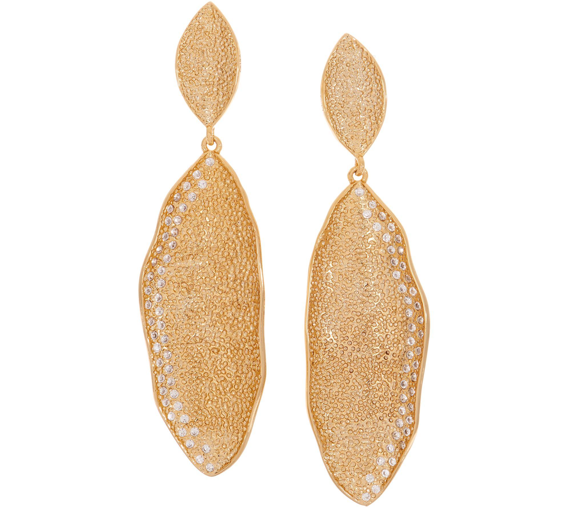 78bc0c00e55a6 Melinda Maria Simulated Pave Feather Earrings - Hepburn — QVC.com