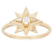 Affinity Diamond 1/10 cttw Horoscope Ring, 14K Gold Plated - J357984