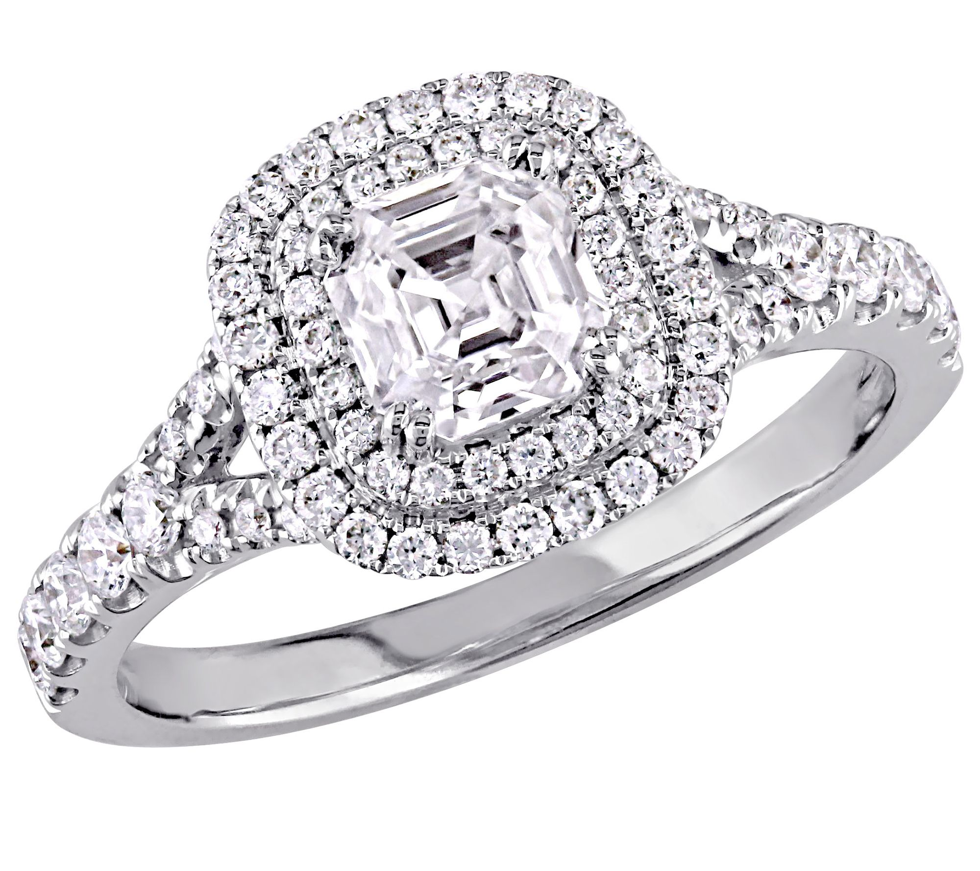 8053c915a Affinity 1.15 cttw Asscher Cut DiamondRing, 14K — QVC.com