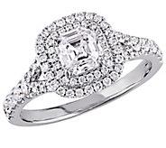 Asscher Cut Diamond Ring, 14K, 1.15 cttw, by Affinity - J376584