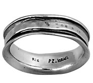 Or Paz Sterling Silver Mens Slightly Hammered Band Ring - J377784