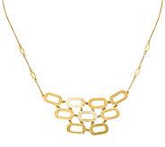14K Gold Oblong Bib Necklace, 4.7g - J378784