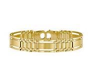 Italian Gold Polished & Satin Multi Link Bracelet 14K, 23.1g - J381484