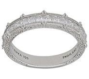 Judith Ripka Sterling Princess-Cut Diamonique Band Ring - J382284