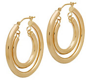 EternaGold Polished Double Hoop Earrings, 14K Gold - J383284