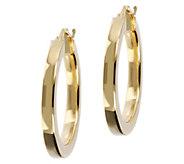 Veronese 18K Clad 1 Round Polished Hoop Earrings - J390884