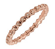 Simply Stacks Sterling Diamond 18K Rose Gold-Plate 2.25mm Ring - J299285