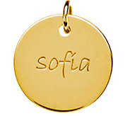Posh Mommy 18K Gold-Plated Large Disc Pendant - J300085