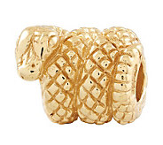 Prerogatives 14K Yellow Gold-Plated Sterling Snake Bead - J302785