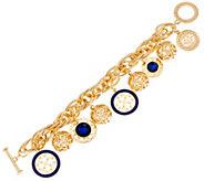 C. Wonder Rolo Link Charm Bracelet with Toggle Closure - J331485