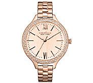 Caravelle New York Womens Rosetone Thin Bracelet Watch - J336585