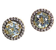 Graziela Gems Gemstone Stud Earrings, Sterling/18K Yellow - J337085
