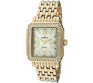 Peugeot Womens Goldtone MOP-Dial Bracelet Watch - J344585