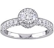 Laura Ashley 1.45 cttw Halo Diamond Ring, 14K Gold - J345585