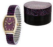 Isaac Mizrahi Live! Leopard Print Expansion Watch - J348185