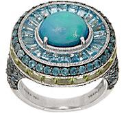 Judith Ripka Sterling_Opal Doublet & 4.50 cttw Gemstone Ring - J352285