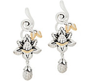 Barbara Bixby Sterling Silver & 18K Gemstone Lotus Earrings - J354285