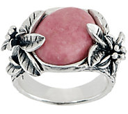 Or Paz Sterling Silver Gemstone Flower Band Ring - J356585