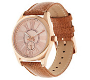 Bronzo Italia Leather Strap Boyfriend Watch - J357885
