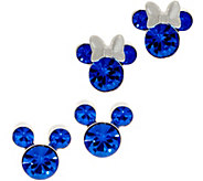 Mickeys 90th Birthday Simulated Birthstone Stud Earrings, Sterl - J359185